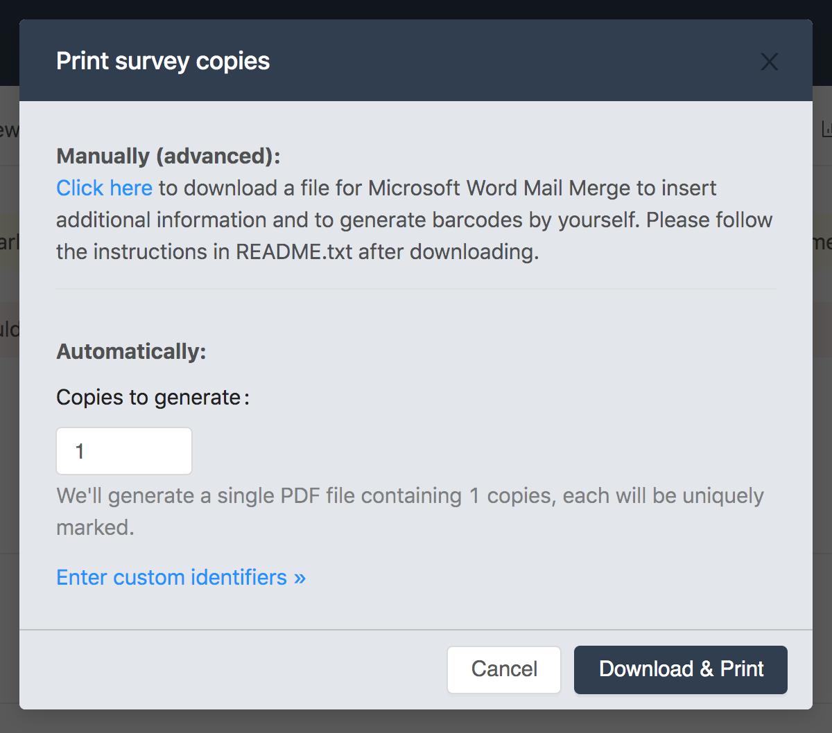 How to generate barcodes with Microsoft Word Mail Merge in